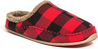 Deer Stags Men's Nordic S.U.P.R.O Sock Cushioned Indoor Outdoor Clog Slipper Red/Black