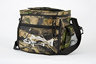 Swell Avenue Camo Cooler for Fishing, Camping or Hunting - Redfish Logo Durable Can Cooler with 24 Can Capacity and Heat Sealed Interior - Perfect Camo Lunchbox or Ice Chest