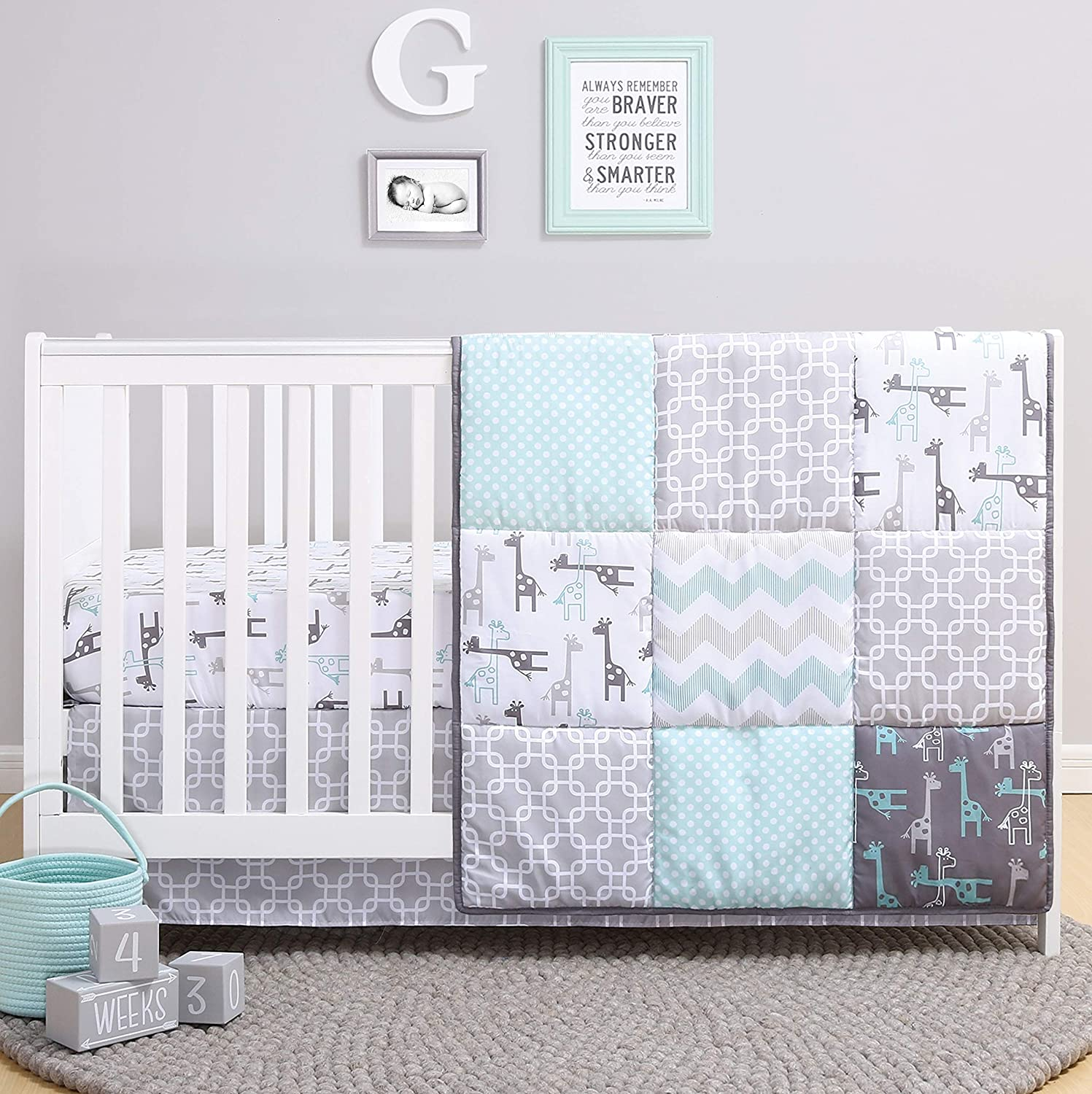 Cash special price The Peanutshell Giraffe Crib Bedding Set Girl New product! New type for Boy and Uni a