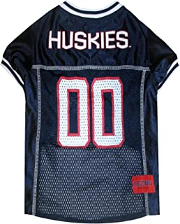 Pets First Collegiate Connecticut Huskies Dog Mesh Jersey, X-Large