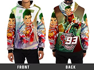 Marc Marquez 93 Custom Zipper Hoodie Full Print Sublimation Style A