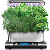 AeroGarden Harvest Elite Classic Indoor Garden (Stainless Steel Finish with Seed Pot Kit)