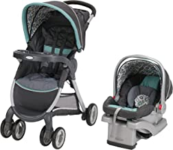 Graco FastAction Fold Travel System | Includes FastAction Fold Click Connect Travel Stroller and SnugRide 30 Infant Car Seat, Affinia