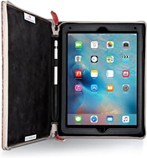 Twelve South Rutledge BookBook for iPad | Leather Book case and Display Stand for iPad 2018 / Pro 9.7-inch