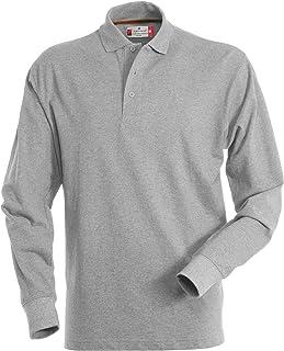 Payper Polo de manga larga para hombre, 100% algodón, 3 botones, para hombre