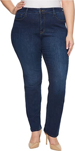 NYDJ Plus Size Plus Size Marilyn Straight Jeans in Cooper