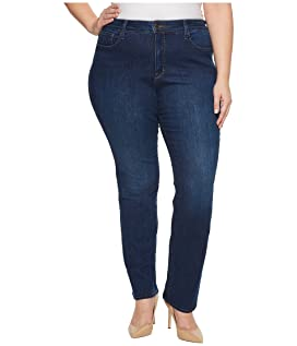 Plus Size Marilyn Straight Jeans in Cooper