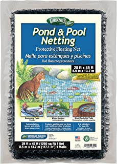 Dalen PN45 016069003944 Gardeneer by Pond & Pool Protective Floating Net 28' x 4, 28'X45', Brown/A