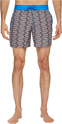 Fish Swirls Chuck Swim Trunks