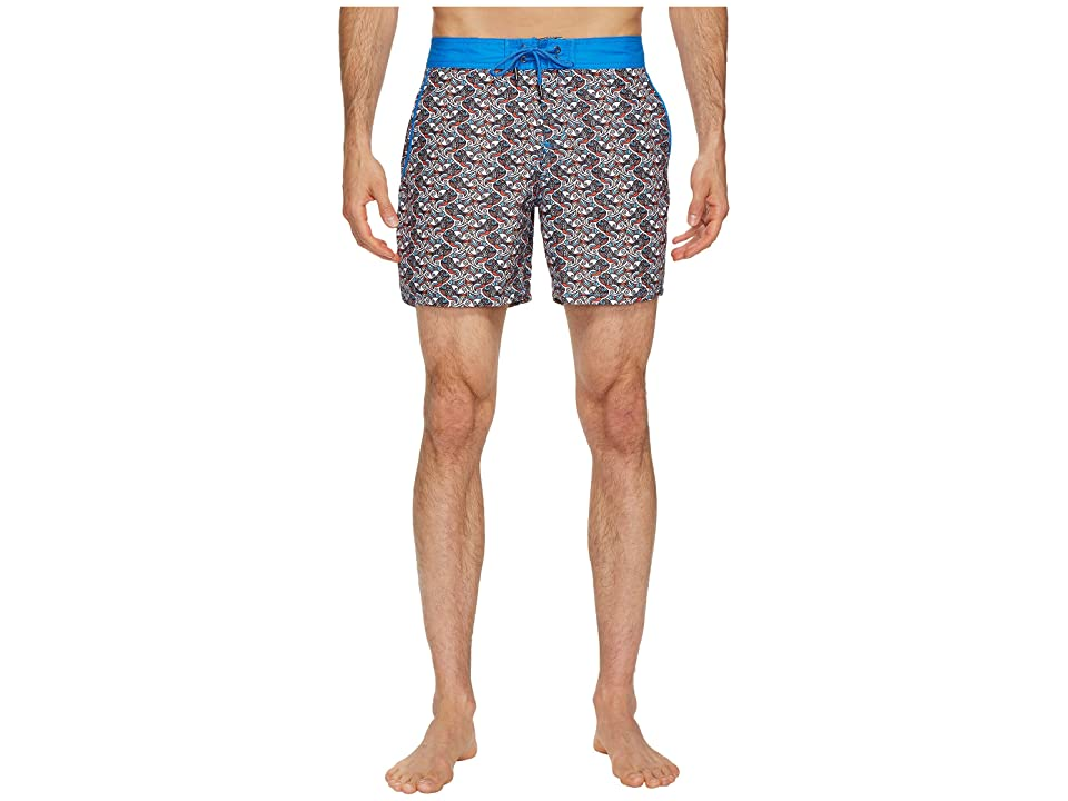 Mr. Swim Fish Swirls Chuck Swim Trunks (Orange) Men