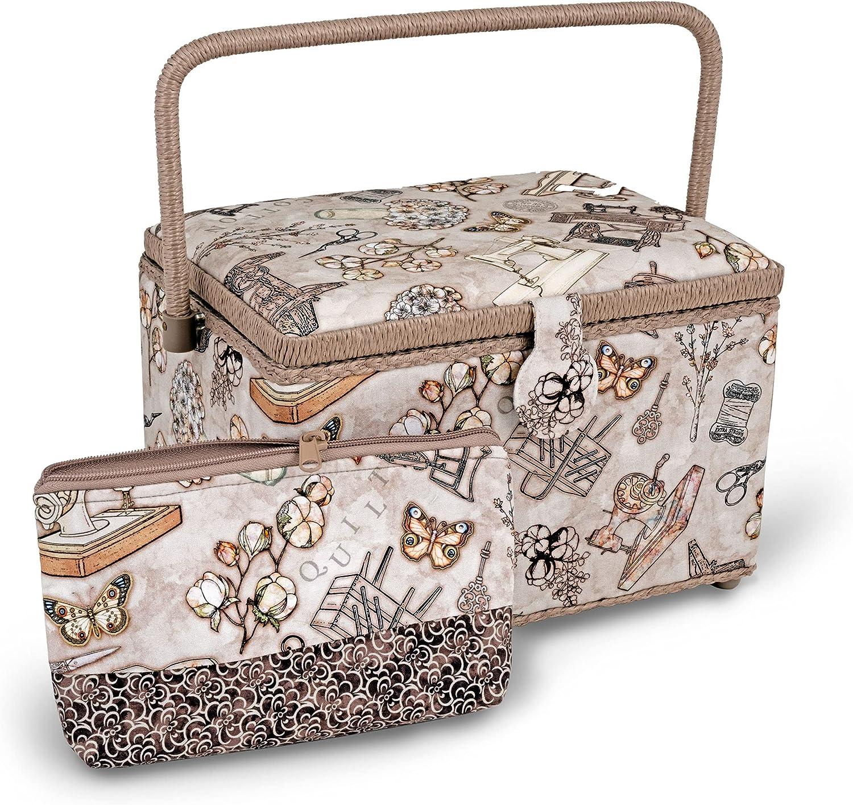 cheap Dritz Basket Accessory Neautral Nashville-Davidson Mall Case Sewing