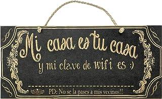 AÑORANZA - Letrero de Madera - Wifi 14x36cm
