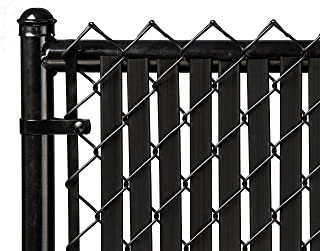 6ft Black Tube Slat for Chain Link Fence
