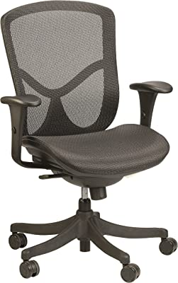 Eurotech Seating Fuzion Mid Back Swivel Chair, Black