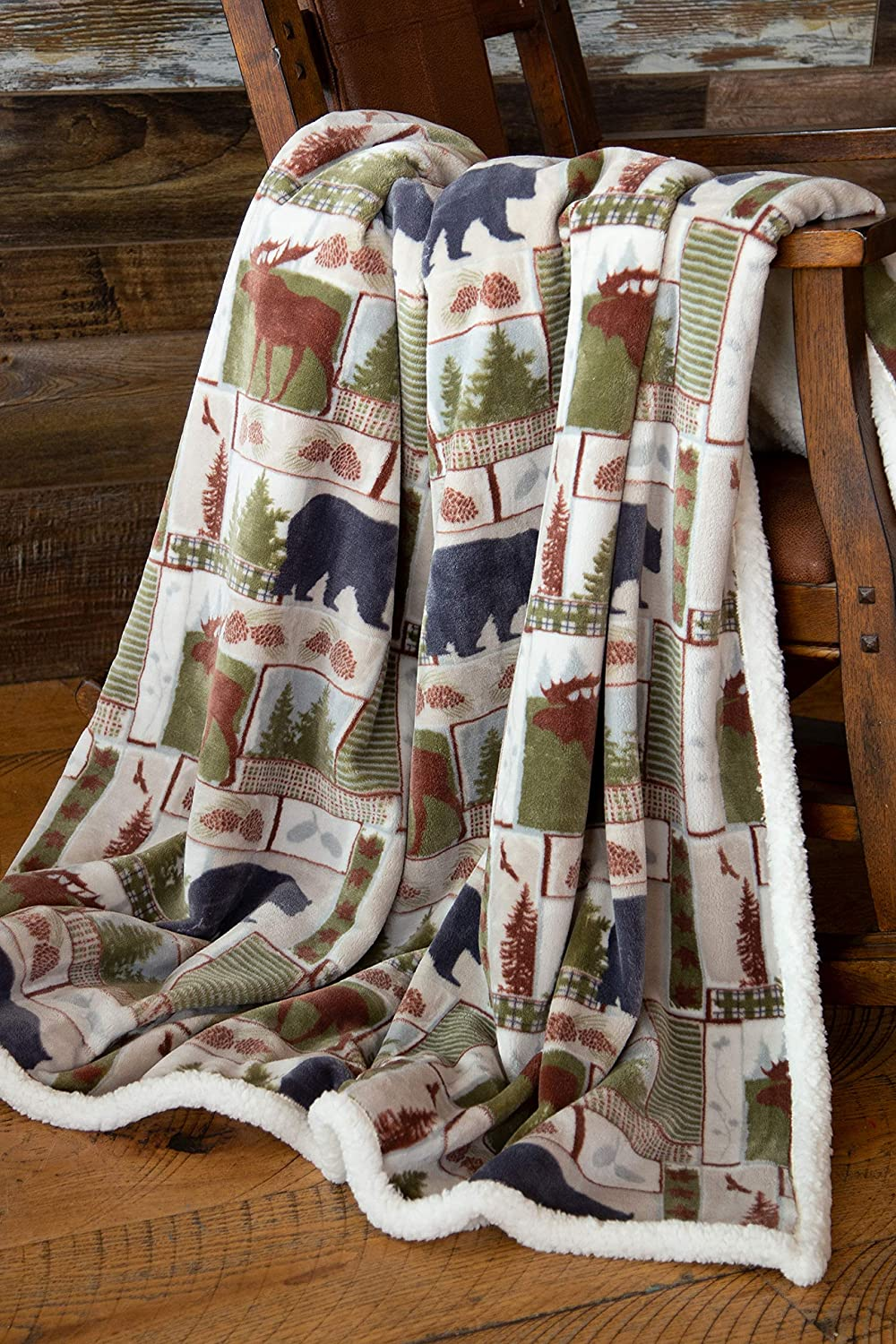 Carstens Vintage Lodge Rustic Cabin sold out Sherpa Department store x Blanket 54