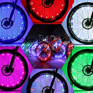 Bright Led Bike Wheel Light - DAWAY A01 Waterproof Bicycle Tire Light Strip, Safety Spoke Lights, Cool Bike Accessories, L...