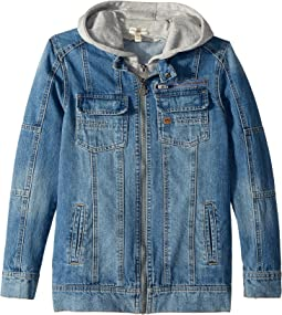 Appaman Kids Denim Jacket with Sweatshirt Hood (Toddler/Little Kids/Big Kids)