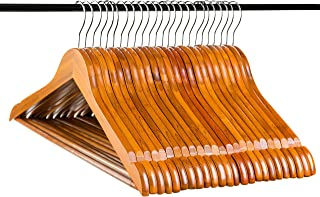 Neaties Natural and Safe Bamboo Wood Hangers Cherry Finish, 24pk