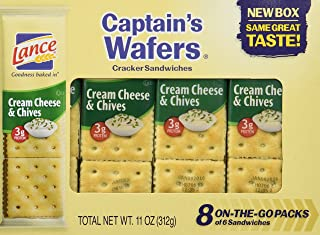 Captain's Wafers Crackers, Cream Cheese and Chives ,11 Ounces (3 To Go Packs)