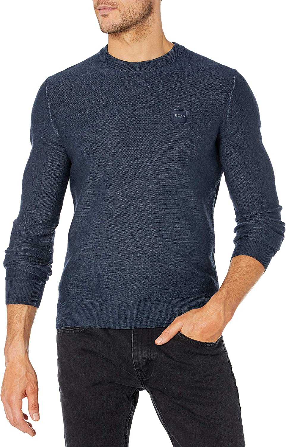 Hugo Boss Clearance SALE Limited time Men's Ranking TOP16 Knit Logo Sweater