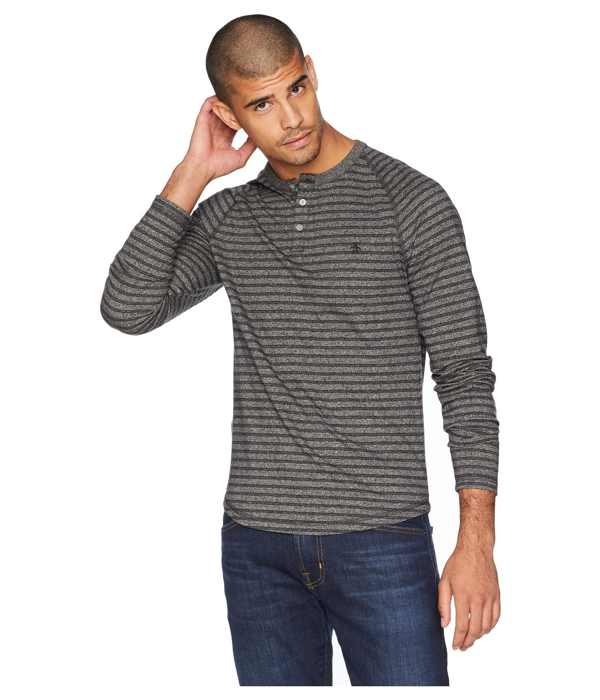 Over Black Sleeve Penguin Long Original True Jacquard Shirt All z8IvPxnH