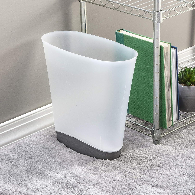STERILITE 10303V06 Slim 新作アイテム毎日更新 Wastebasket Clear Gray Gallon 在庫あり 2.4