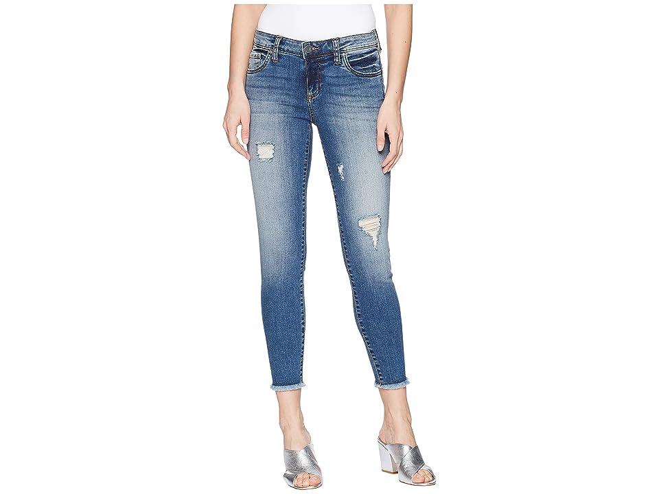 KUT from the Kloth Connie Ankle Skinny Jeans w/ Fray Hem (Galvanized/Medium Base Wash) Women