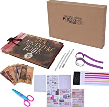 Our Adventure Book Pixar Up Handmade DIY Scrapbook Photo Album 80 Pages with Bonus Exquisite Storage Box Abundant DIY Accessories and Movie Postcards Suitable for Lover, Friends and Kids ect
