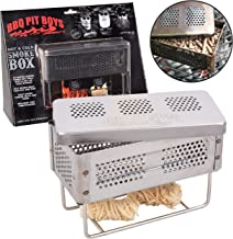 BBQ Pit Boys Smoker Box for Hot and Cold Smoke - Stainless Steel Barbecue Smoke Box Includes 2 Fire Starters - Easily Infuse Smoky Flavor with Your Grill On or Off