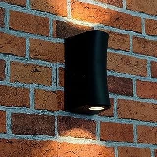 Secteur en acier inoxydable Up Down mur extérieur lumière GU10 DEL porche double Indoor