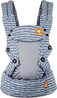 Baby Tula Coast Explore Mesh Baby Carrier 7 - 45 lb, Adjustable Newborn to Toddler Carrier, Multiple Ergonomic Positions Front and Back, Breathable - Coast Beyond, Light Blue with Light Gray Mesh