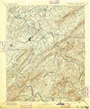 YellowMaps Roan Mountain TN topo map, 1:125000 Scale, 30 X 30 Minute, Historical, 1894, 20 x 16.8 in