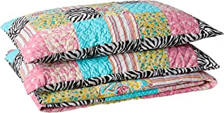 Be-you-tiful Home 3 Piece Zebra Patchwork Quilt Set, King