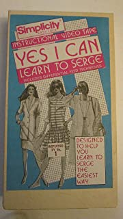 Yes I Can Learn to Serge - Simplicity Easy Lock Instructional Video [VHS Tape]