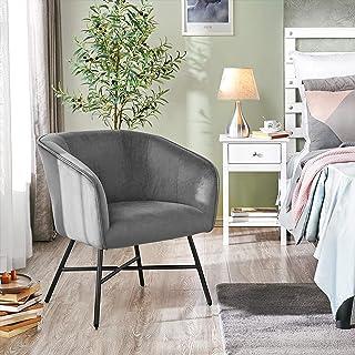 Yaheetech Fauteuil avec accoudoirs - Chaise de visiteur - Siège en velours