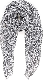 Scarf for Men Lightweight Paisley Fashion Scarves Man Gentleman Spring Summer
