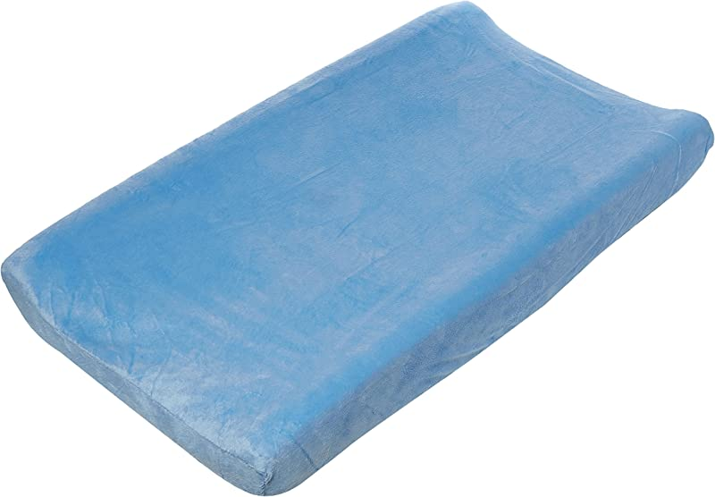 Summer Ultra Plush Changing Pad Cover Blue