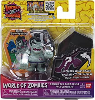 World of Zombies 44272 44274 Bandai Zapan Sumo Wrestler & Mystery 2.5 Inch Figures (2-Pack), Multicolour
