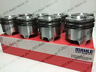 MAHLE Pistons set for Ford 7.3 7.3L Diesel Pistons +.030 Oversize Bore w/Rings 95-03 MAHLE Clevite Set of 8