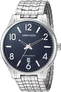 Armitron Men's 20/5221NVSV Date Calendar Dial Silver-Tone...