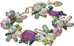 Colorful Stone and Cat Cluster Collar Bracelet