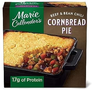 Marie Callender's Beef & Bean Chili Cornbread Pie Frozen Meal, 11.7 oz.