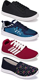 Shoefly Women's (5048-1451-5001-5033) Multicolor Casual Sports Running Shoes (Set of 4 Pair)