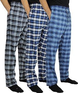 3 Pack:Men's Cotton Super-Soft Flannel Plaid Pajama Pants/Lounge Bottoms S-3XL