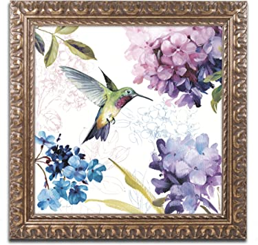 Amazon Com Spring Nectar Square Ii Wall Decor By Lisa Audit 16 X 16 Gold Ornate Frame Home Kitchen