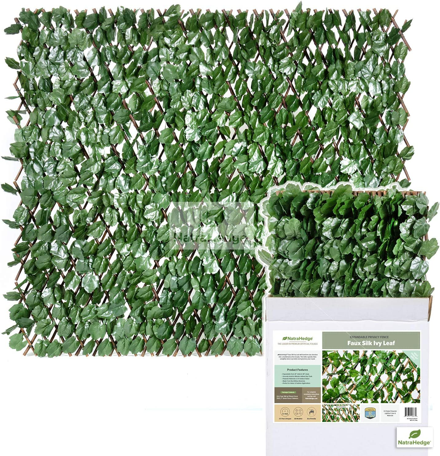 New color NatraHedge Ranking TOP16 Expandable Faux Ivy Privacy Premium with Fence Screen