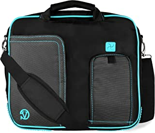 "10"" to 12 Inch Aqua Blue Travel Laptop Messenger Bag for Apple iPad 9.7 10.2, Air 10.5, Pro 11"