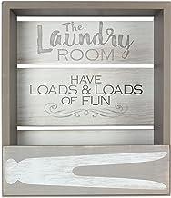 رف حائط خشبي لغسيل الملابس من شركة يونغز، 39.37 سم × 15.24 سم × 45.72 سم