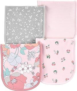 Carter's Baby Girls 4 Pack Cotton Burp Cloths (Pink/Heather)