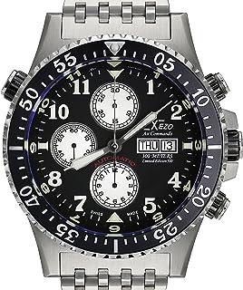 Xezo - Reloj Air Commando Divers Valjoux 7750 automático, Reloj cronográfico, antireflectante, 45 mm de diámetro